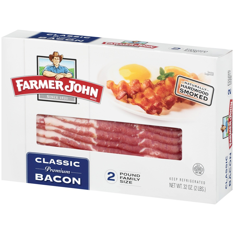 slide 3 of 3, Farmer John Classic Bacon,