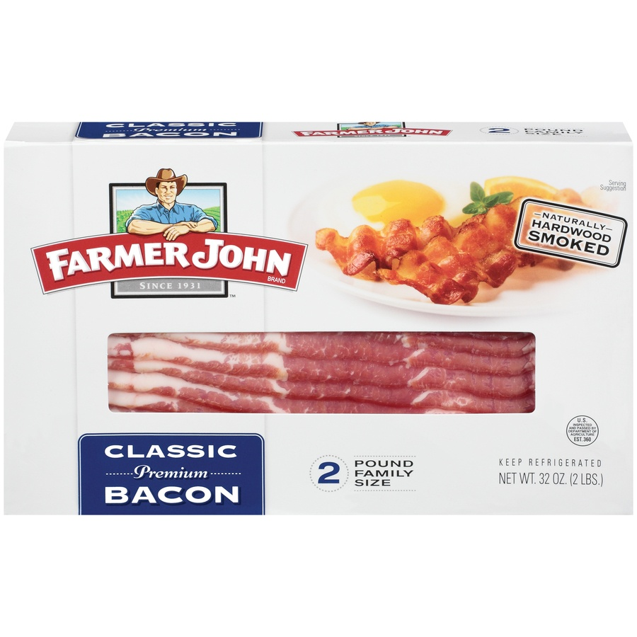 slide 1 of 3, Farmer John Classic Bacon,