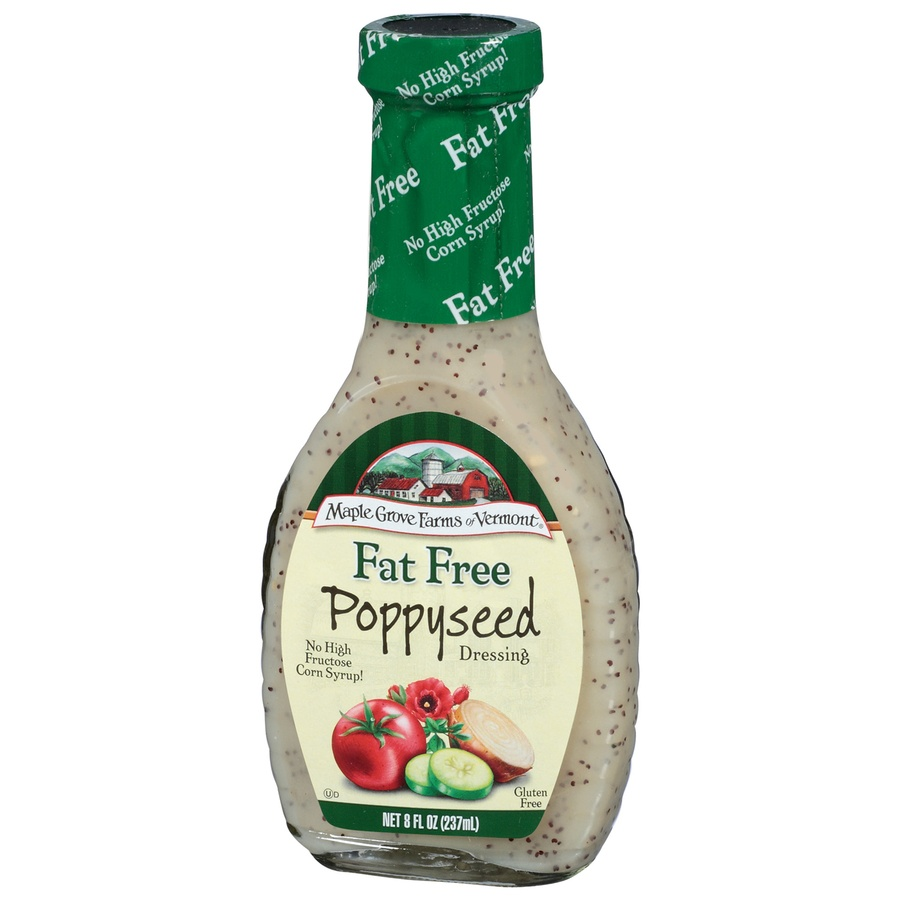 slide 3 of 3, Maple Grove Farms Fat Free Poppyseed Dressing,