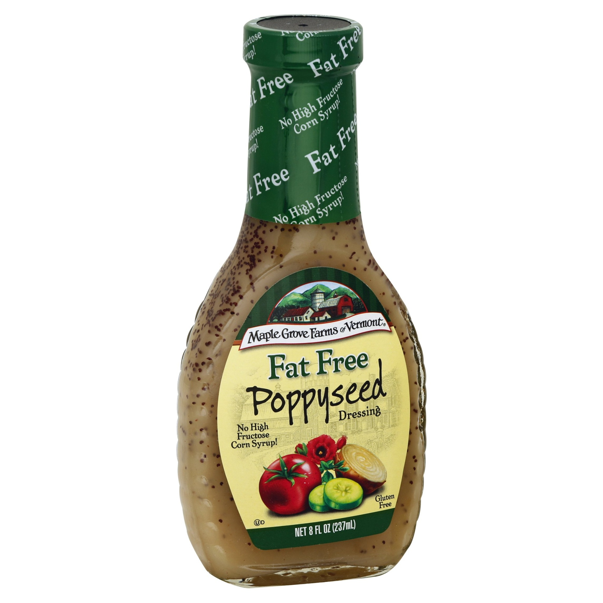 slide 1 of 3, Maple Grove Farms Fat Free Poppyseed Dressing,
