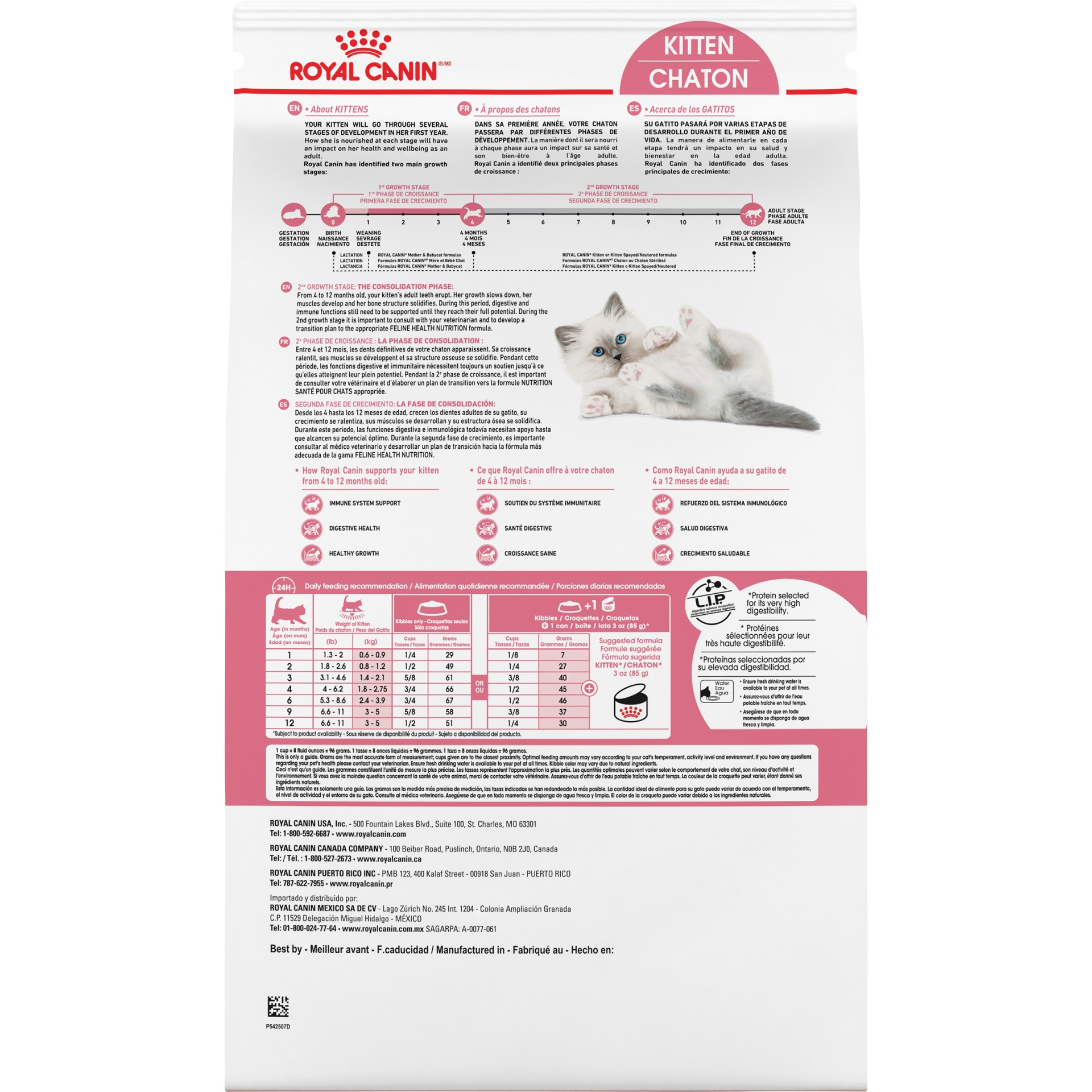 slide 6 of 9, Royal Canin Feline Health Nutrition Dry Kitten Food,