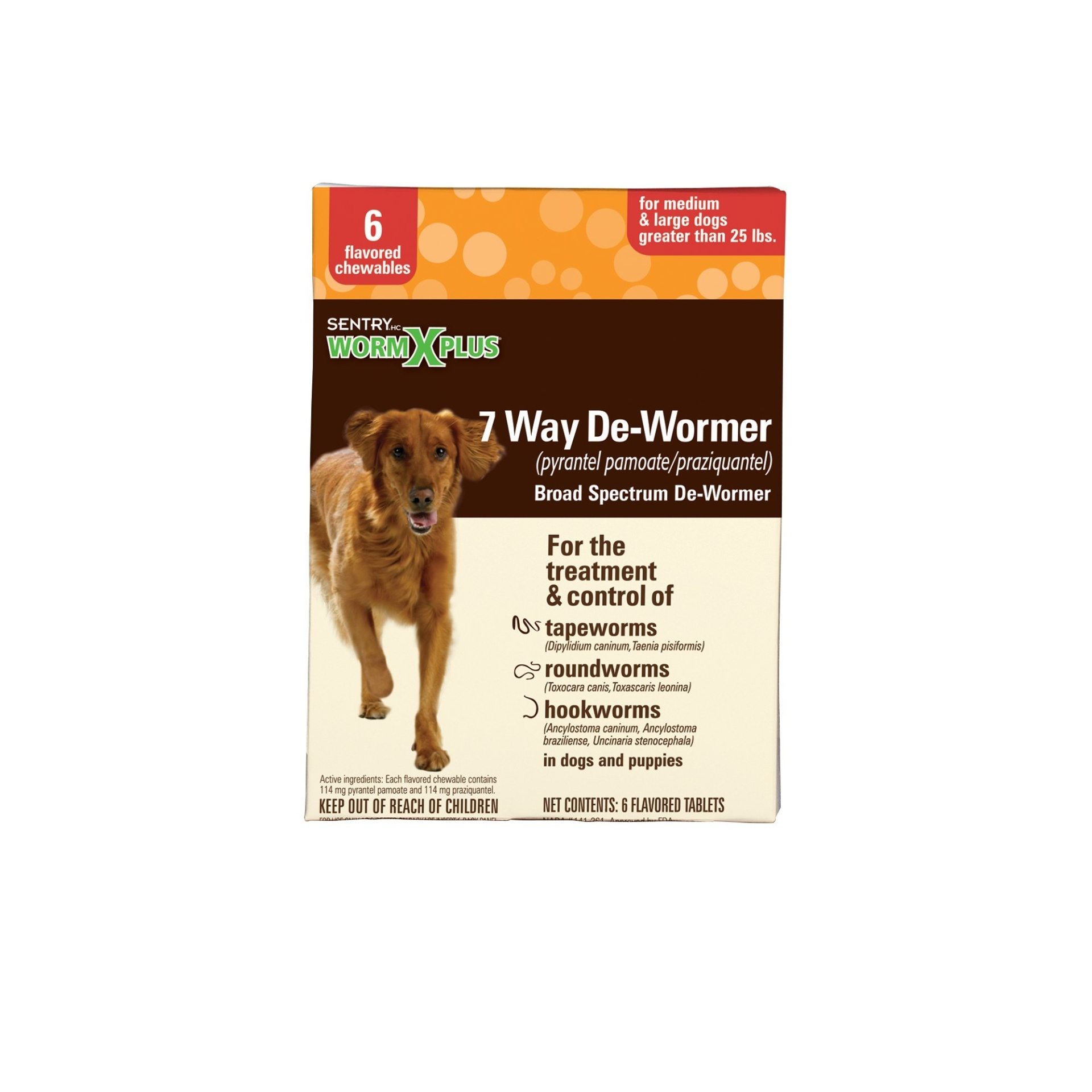slide 1 of 1, Sentry HC WormX Plus Flavored De-Wormer Chewables for Dogs,