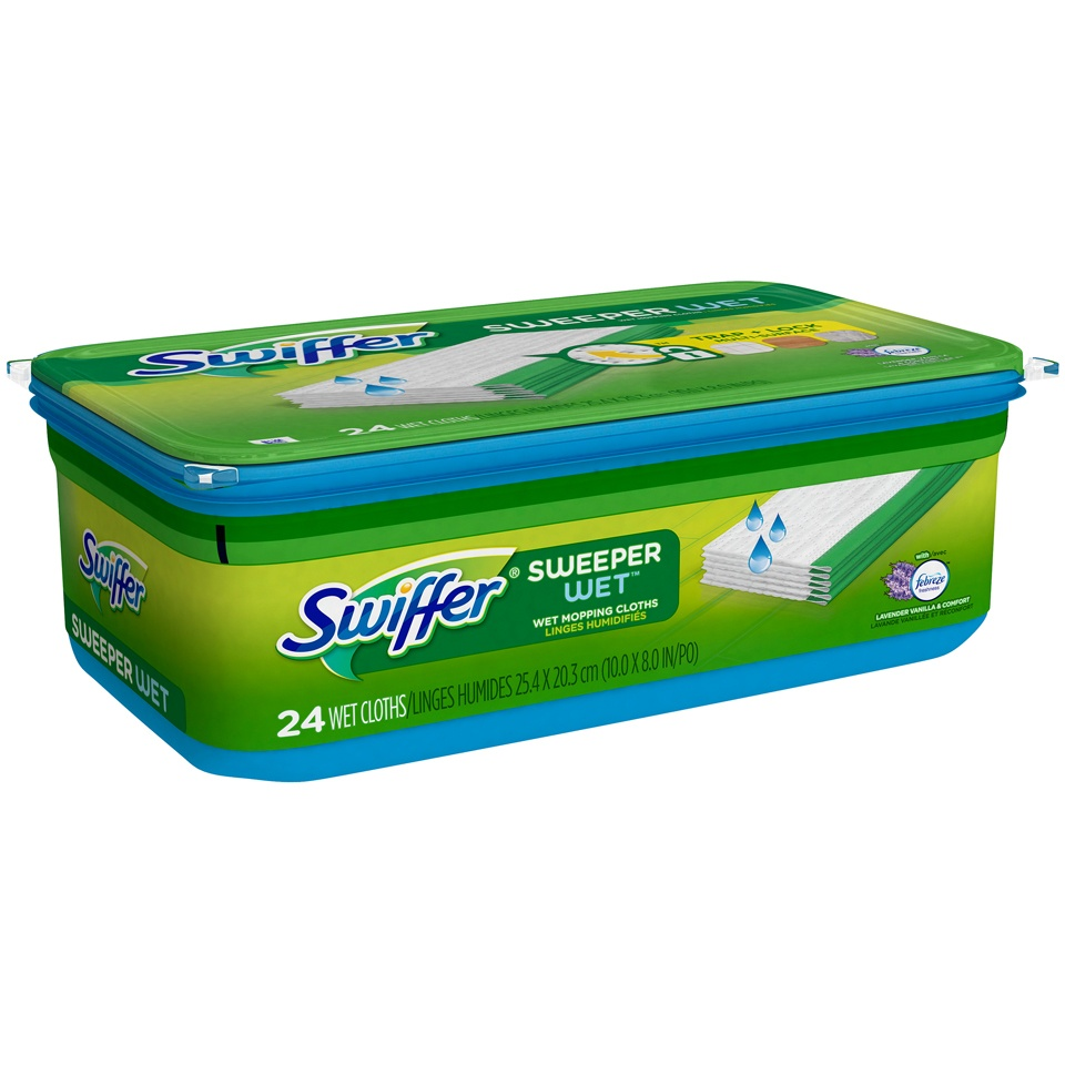 slide 2 of 2, Swiffer Sweeper Wet Refills, Lavender Vanilla & Comfort,
