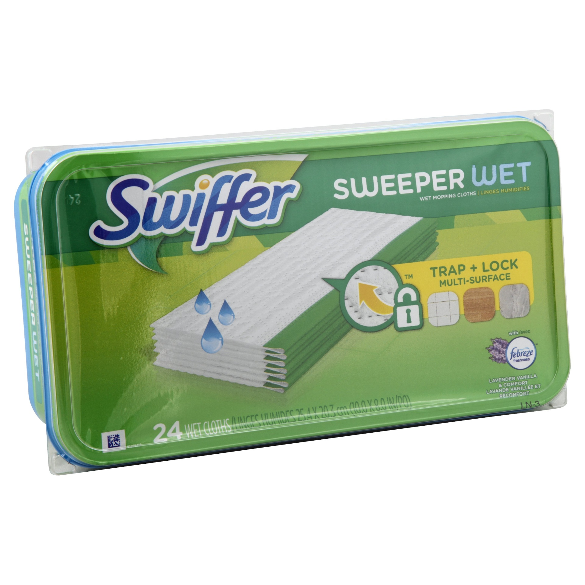 slide 1 of 2, Swiffer Sweeper Wet Refills, Lavender Vanilla & Comfort,