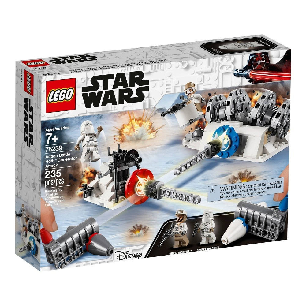slide 4 of 7, LEGO Star Wars Action Battle Hoth Generator Attack 75239,
