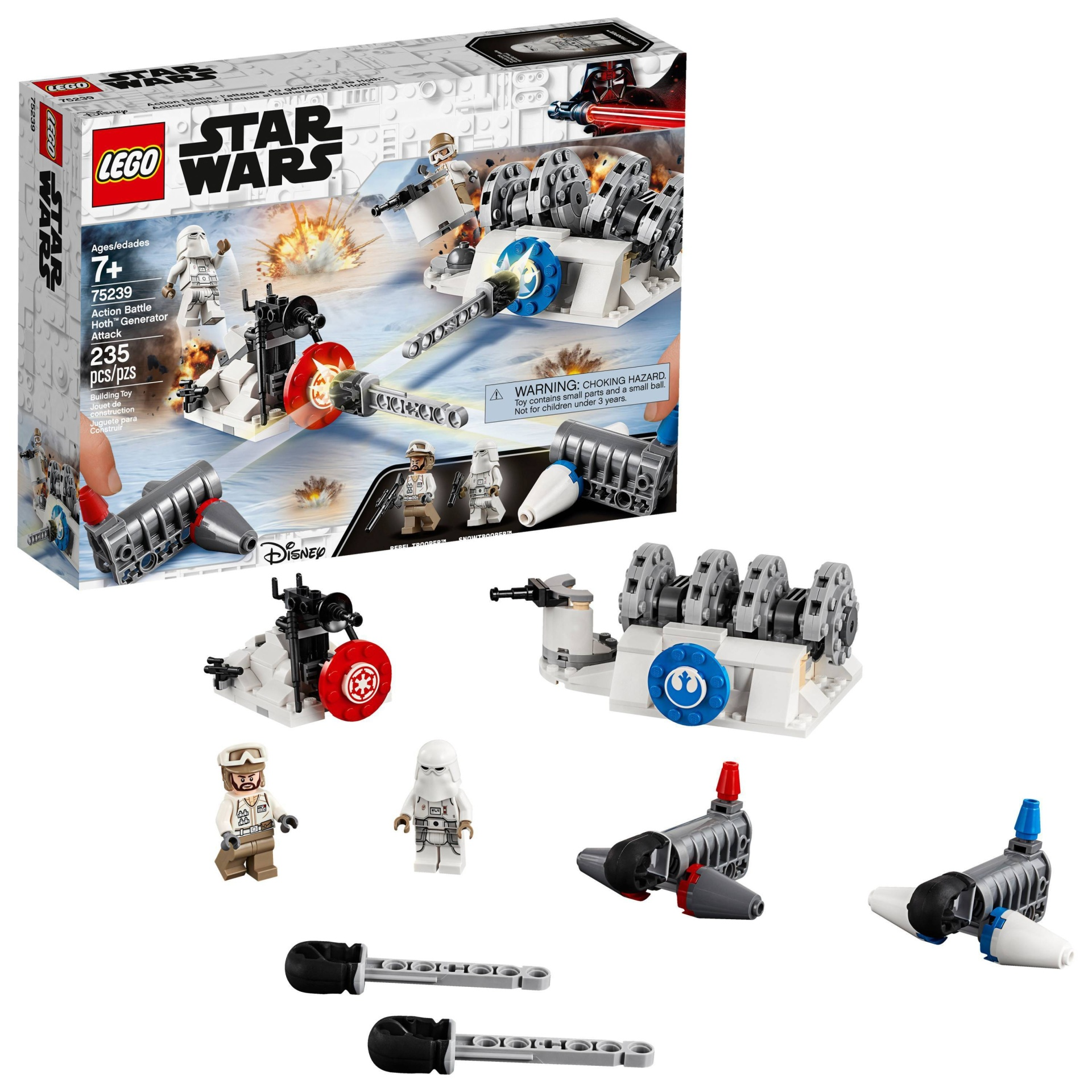 slide 1 of 7, LEGO Star Wars Action Battle Hoth Generator Attack 75239,