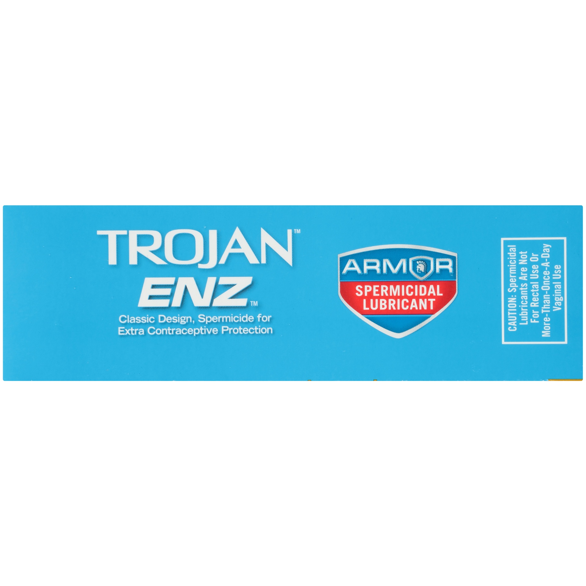 slide 5 of 7, Trojan ENZ Latex Condoms with Spermicidal Lubricant,