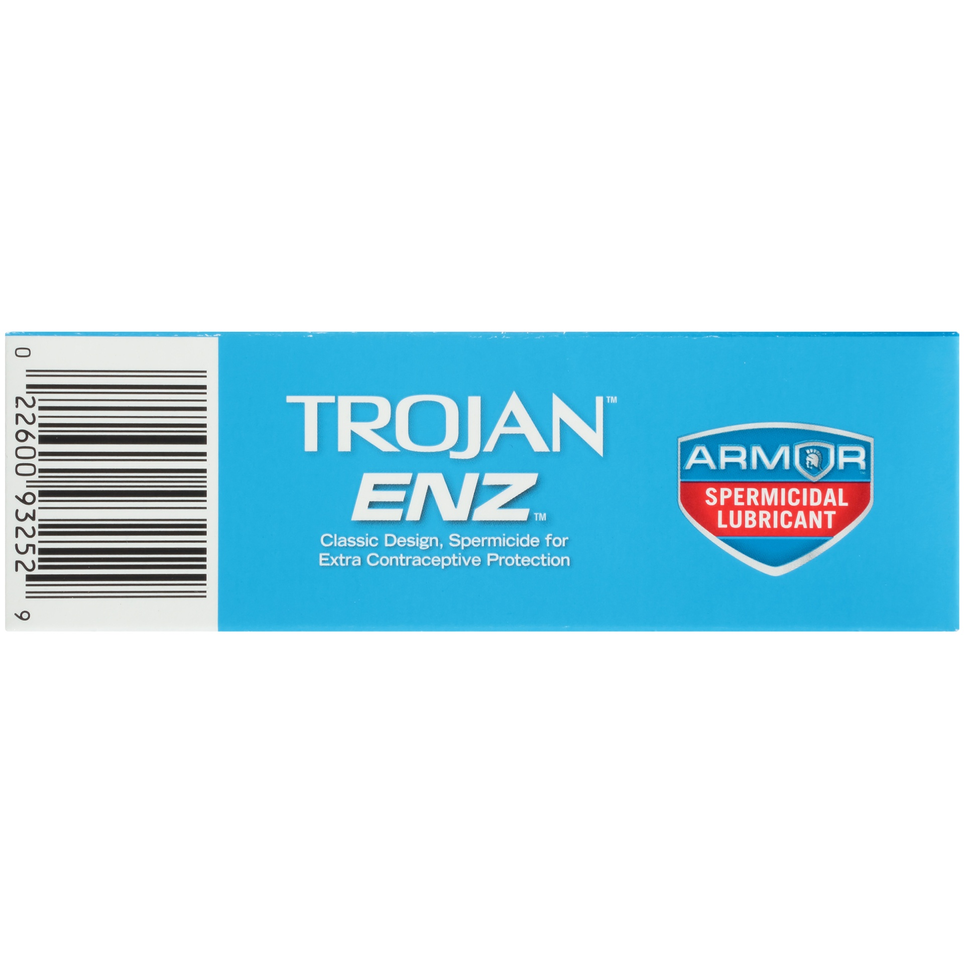 slide 6 of 7, Trojan ENZ Latex Condoms with Spermicidal Lubricant,