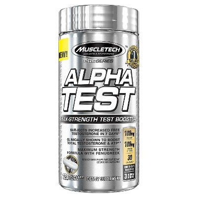 slide 1 of 1, Muscle Tech Alpha Test Nutritional Supplement Capsules,