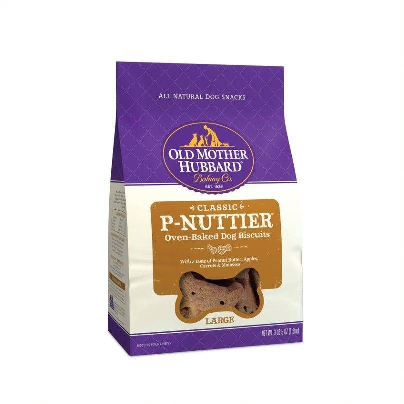 slide 1 of 2, Old Mother Hubbard Crunchy Classic Natural P-Nuttier Large Dog Biscuits,