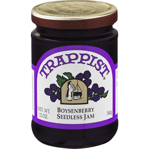 slide 2 of 8, Trappist Boysenberry Seedless Jam,
