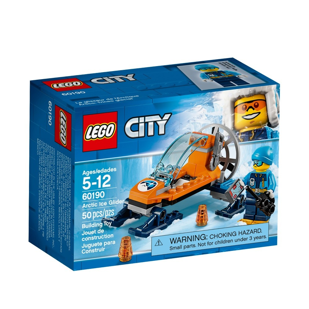slide 3 of 8, LEGO City Arctic Expedition Ice Glider 60190,