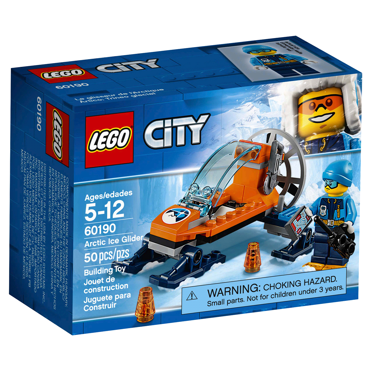 slide 4 of 8, LEGO City Arctic Expedition Ice Glider 60190,