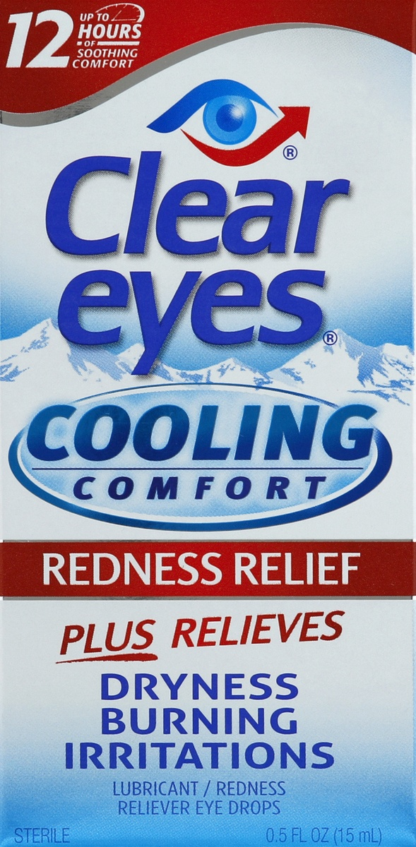 slide 4 of 4, Clear Eyes Cooling Comfort Redness Relief Eye Drops,