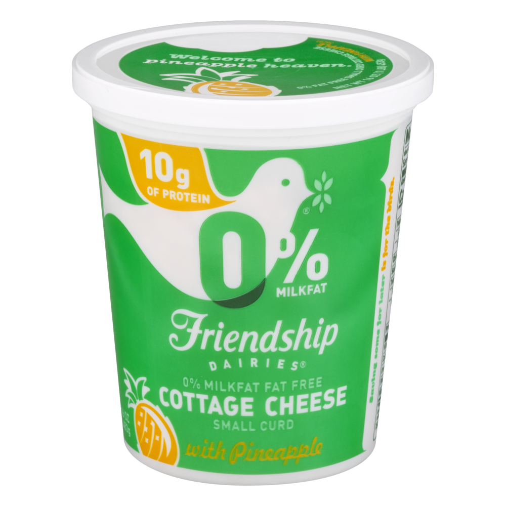 slide 1 of 1, Friendship Dairies Non-Fat Pineapple Cottage Cheese,