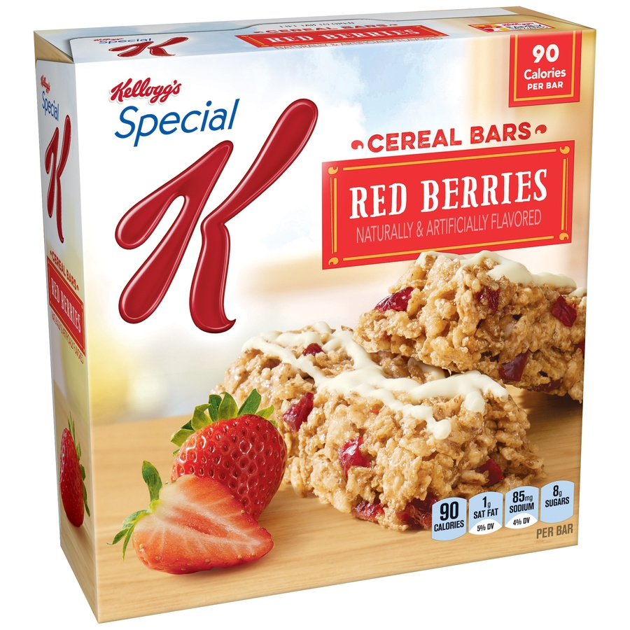 slide 2 of 2, Kellogg's Special K Red Berries Cereal Bars,