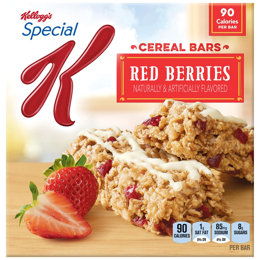 slide 1 of 2, Kellogg's Special K Red Berries Cereal Bars,