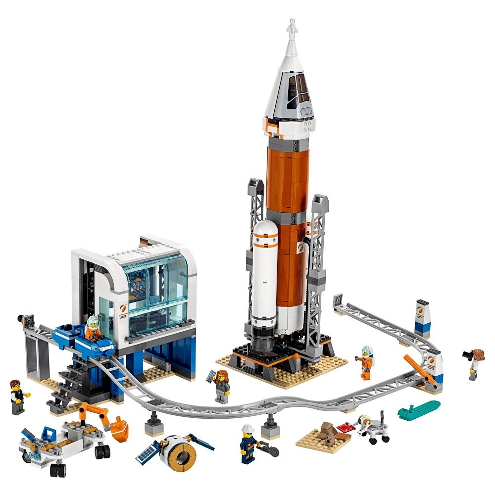 slide 2 of 5, LEGO City Space Deep Space Rocket and Launch Control Model Rocket Building Kit with Minifigures 60228,