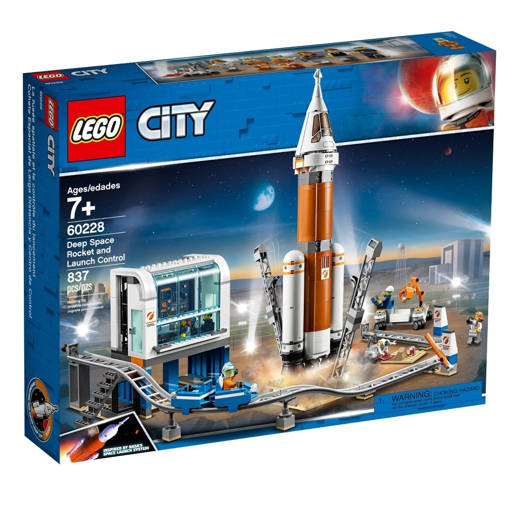 slide 4 of 5, LEGO City Space Deep Space Rocket and Launch Control Model Rocket Building Kit with Minifigures 60228,