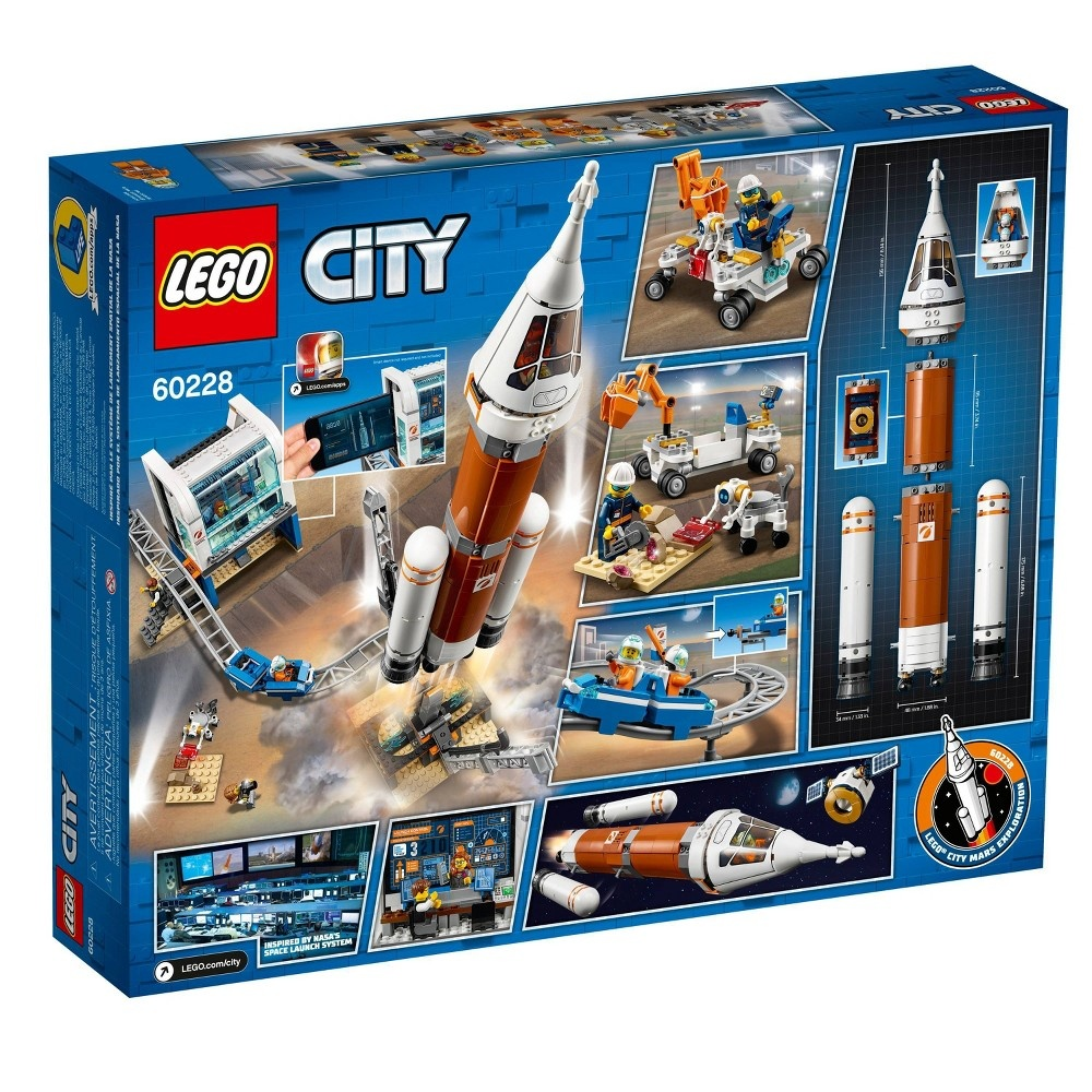 slide 5 of 5, LEGO City Space Deep Space Rocket and Launch Control Model Rocket Building Kit with Minifigures 60228,