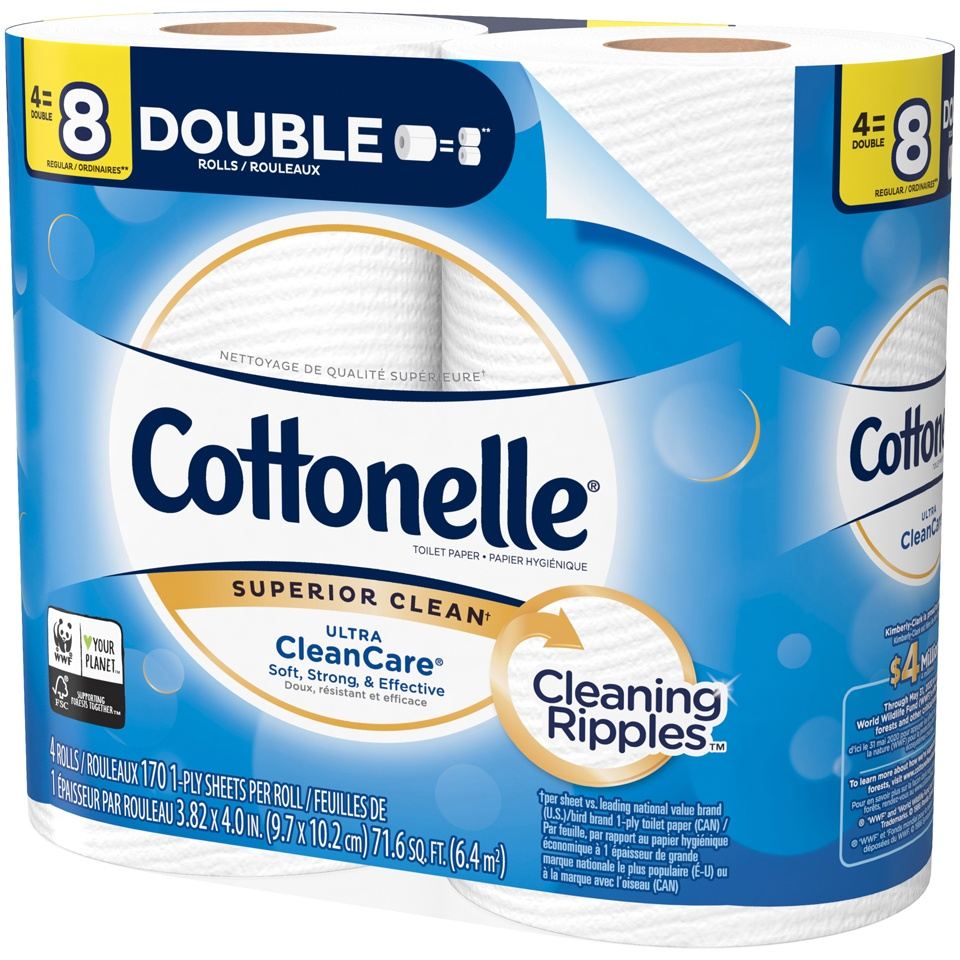 slide 3 of 3, Cottonelle Ultra Clean Care Bath Tissue,