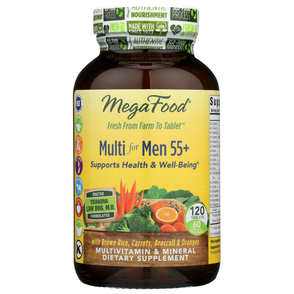 slide 1 of 1, MegaFood Multi For Men 55 Plus,
