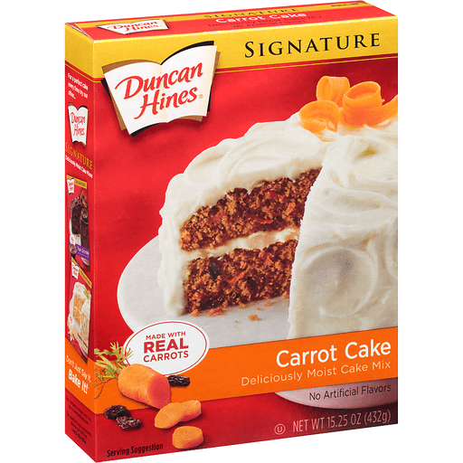 slide 2 of 8, Duncan Hines Signature Carrot Cake Mix,
