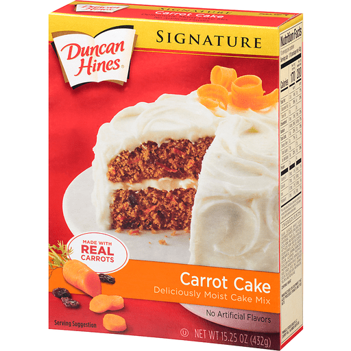 slide 3 of 8, Duncan Hines Signature Carrot Cake Mix,