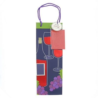 slide 1 of 1, IG Design Group Bottle Wine Bag,