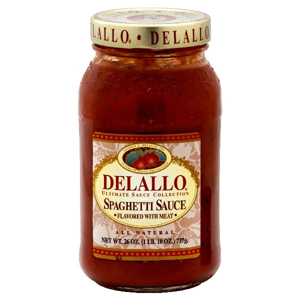 slide 1 of 1, DeLallo Spaghetti Sauce Flavored with Meat,