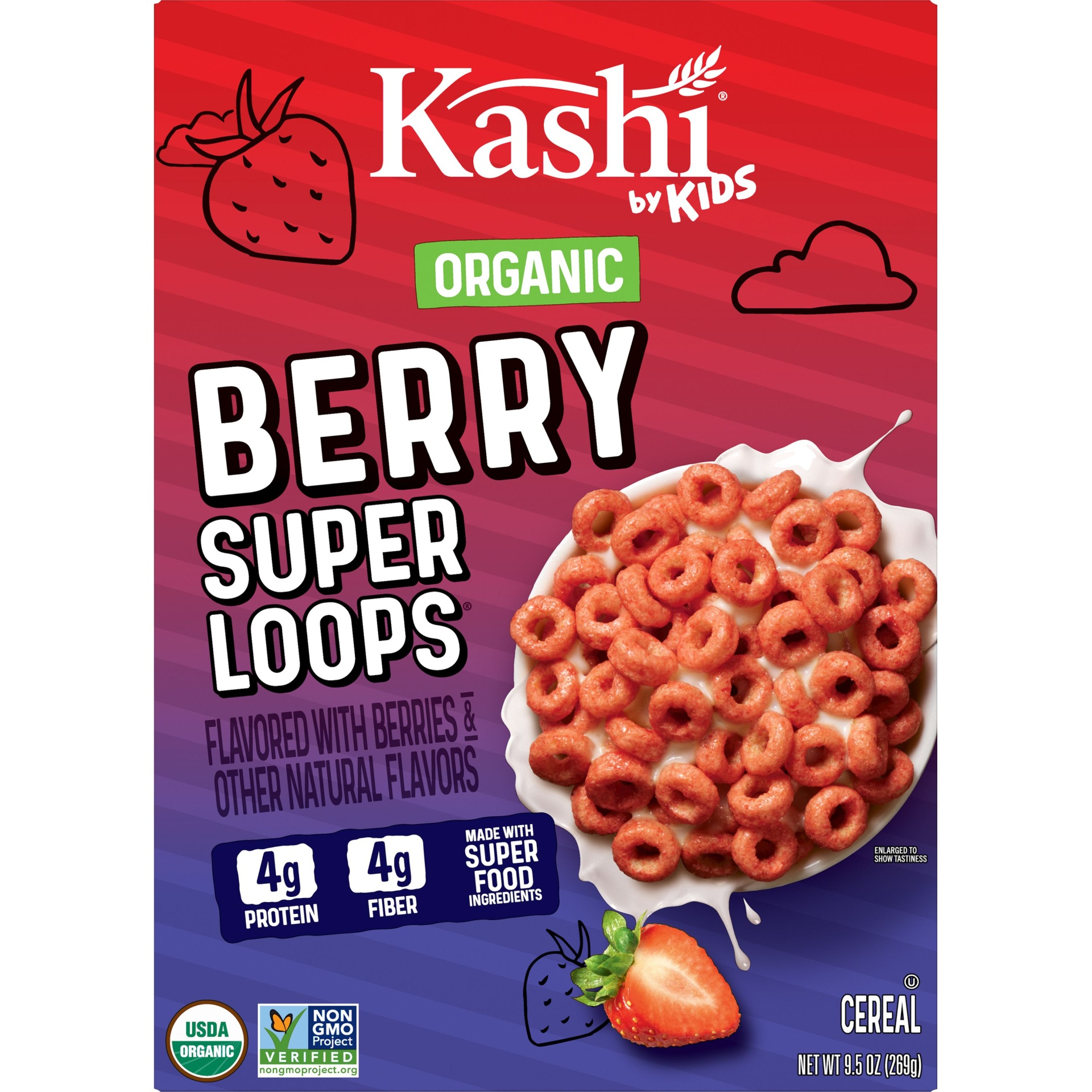 slide 2 of 7, Kashi By Kids Organic Berry Super Loops Cereal,
