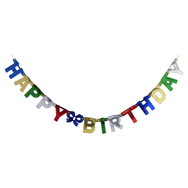 slide 1 of 2, Happy Birthday Party Banner,