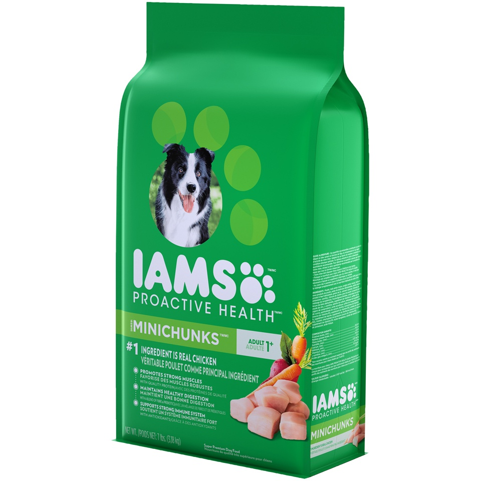 slide 3 of 9, IAMS Proactive Health Adult MiniChunks - Dry Dog Food,