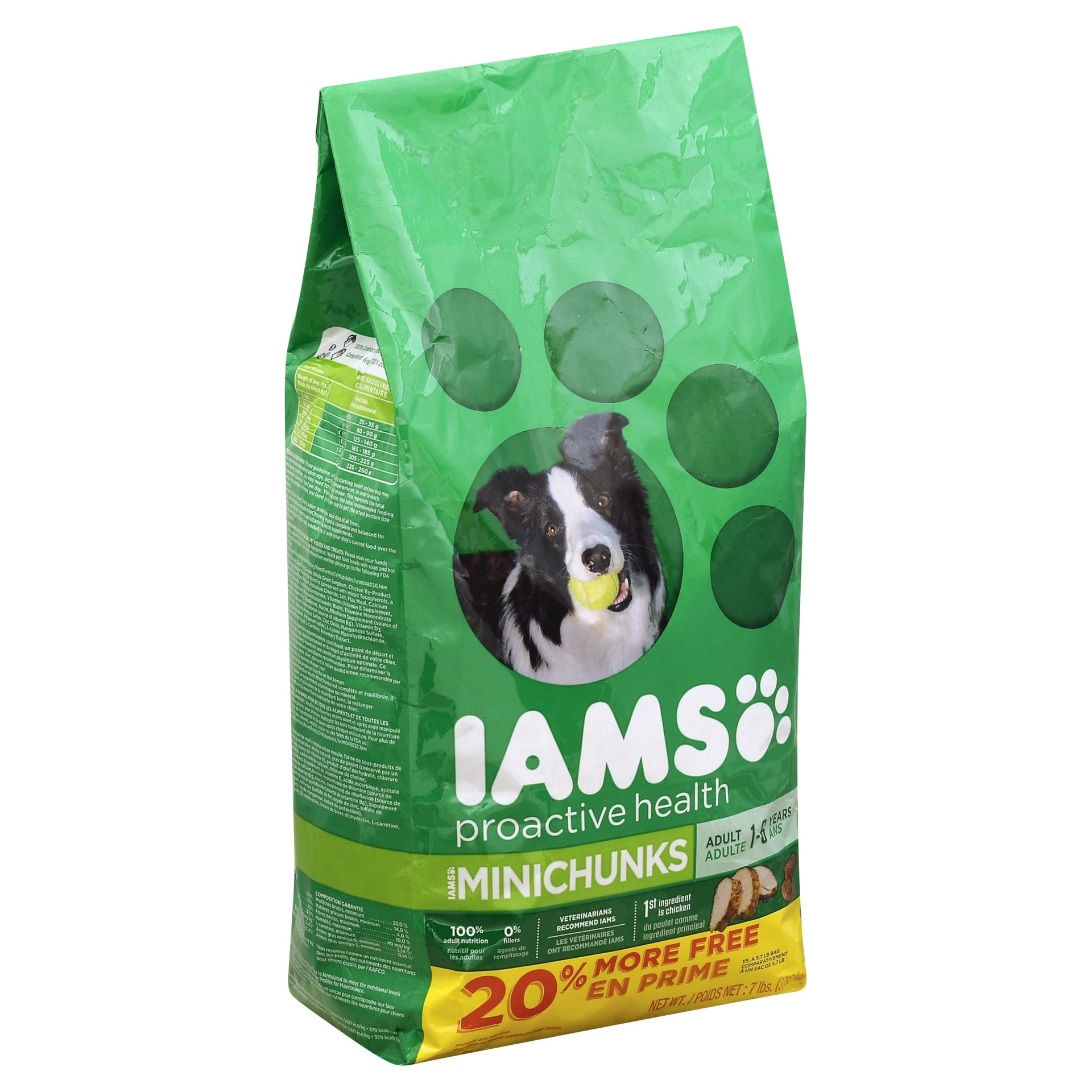 slide 1 of 9, IAMS Proactive Health Adult MiniChunks - Dry Dog Food,