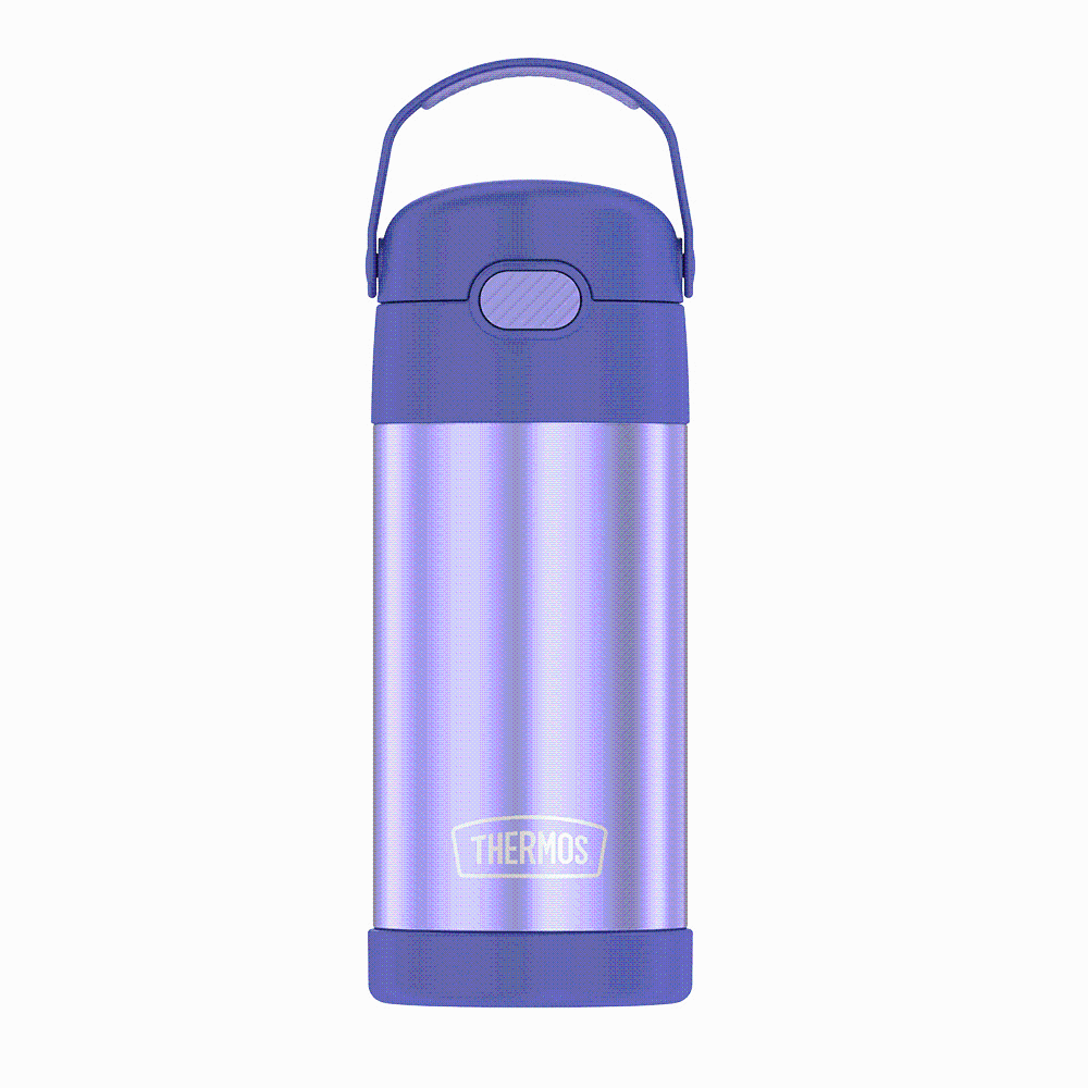 slide 1 of 1, Thermos Funtainer Stainless Steel Bottle - Purple,