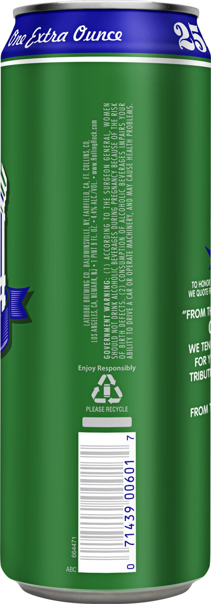 slide 4 of 4, Rolling Rock Extra Pale,