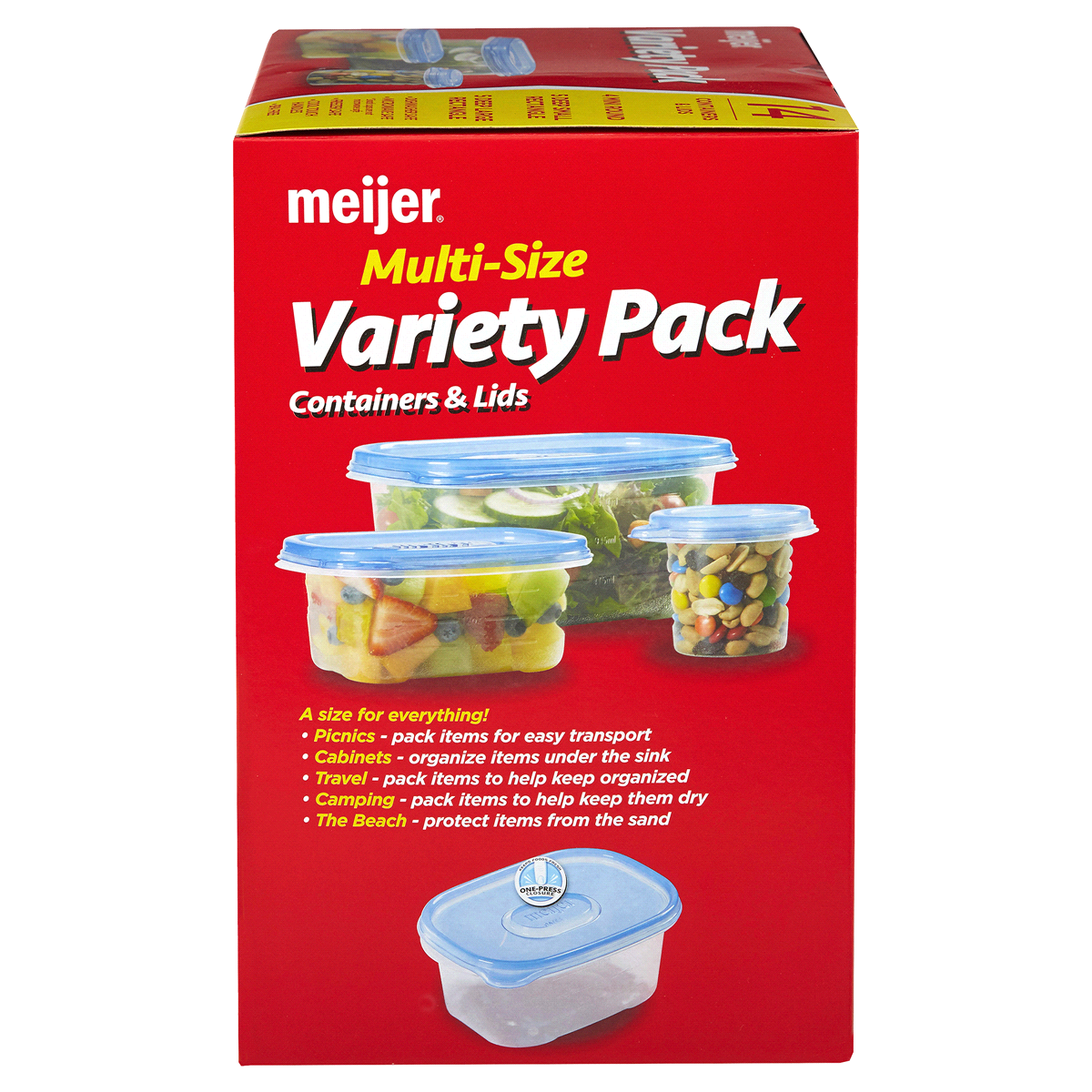 slide 3 of 4, Meijer Storage Containers, Variety Pack,