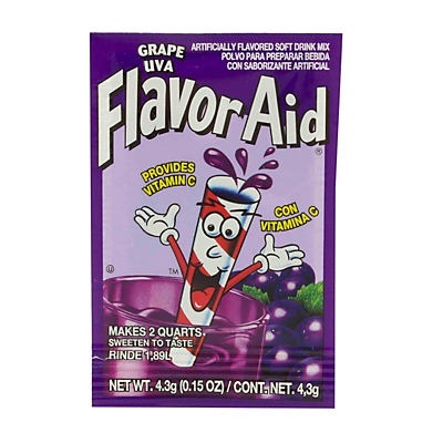 slide 1 of 1, Flavor Aid Unsweetened Grape Drink Mix,