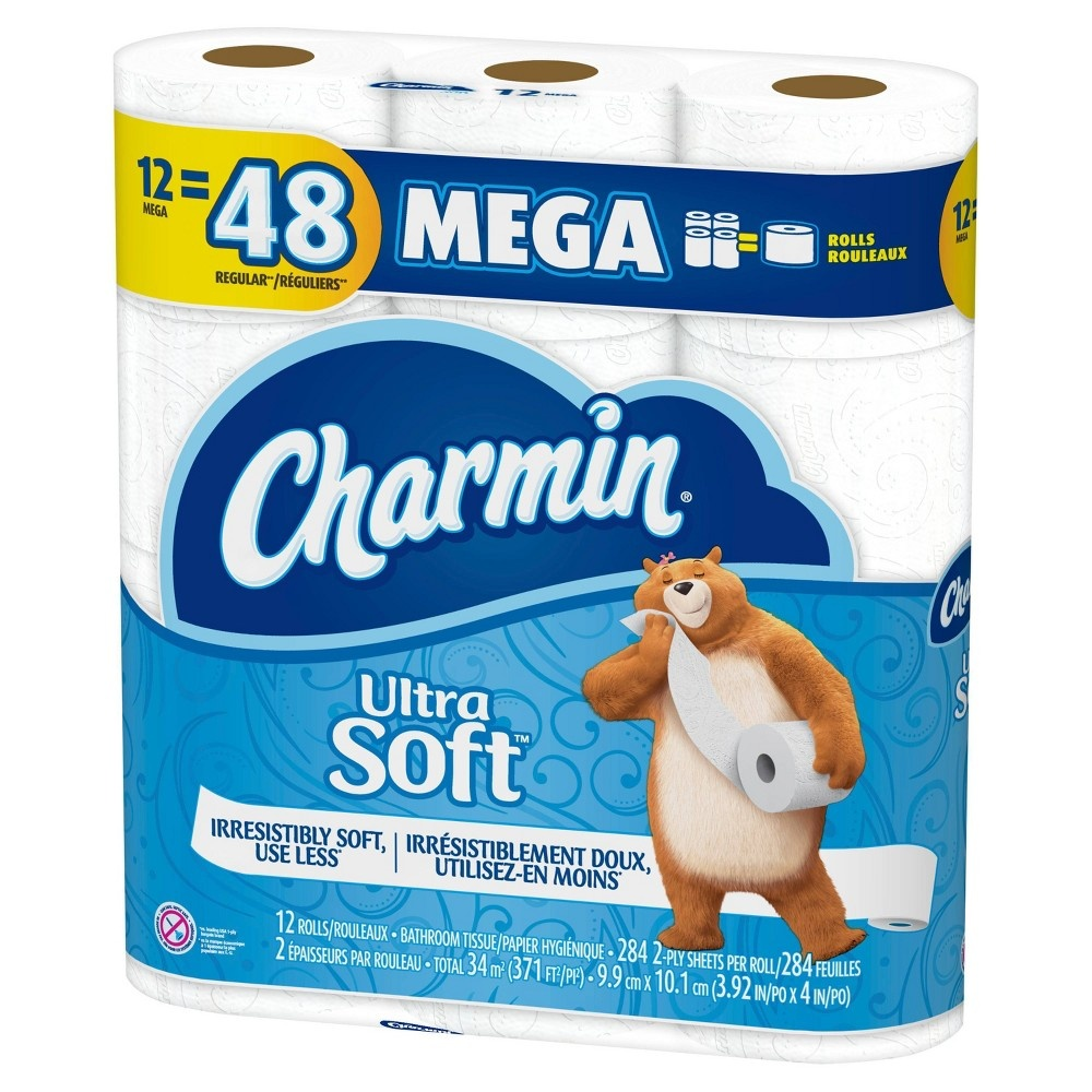 slide 3 of 5, Charmin Ultra Soft Toilet Paper Mega Rolls,