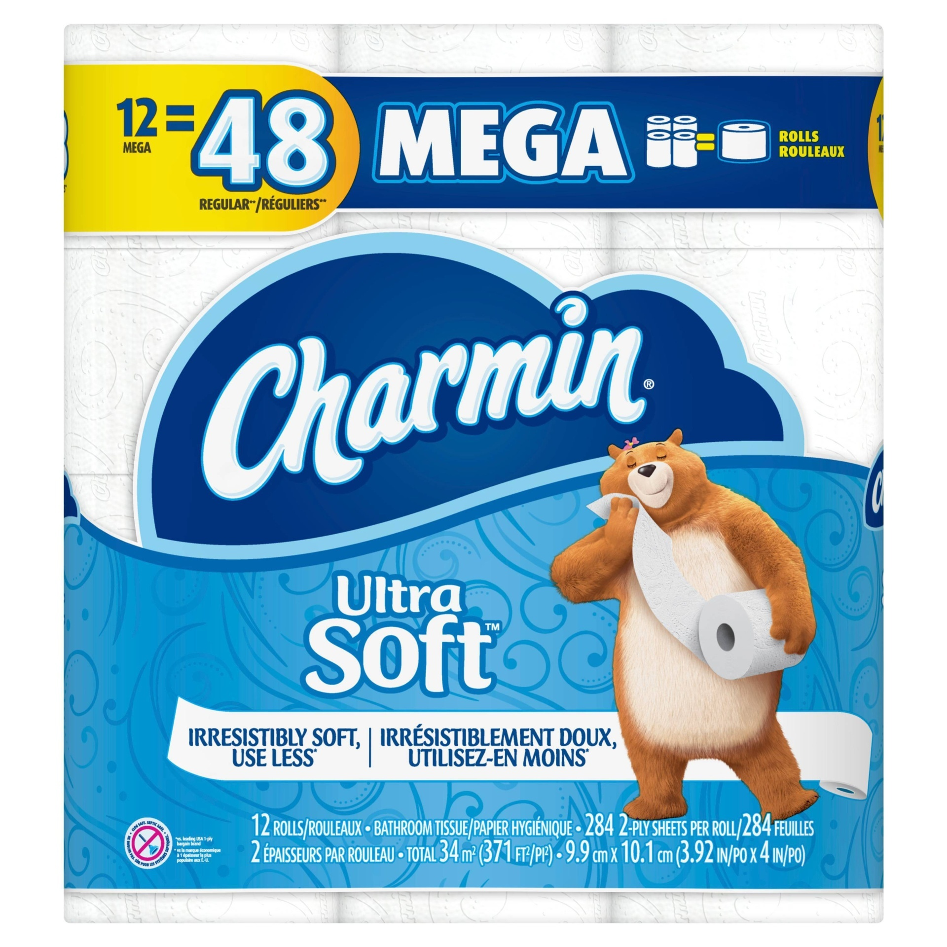 slide 1 of 5, Charmin Ultra Soft Toilet Paper Mega Rolls,