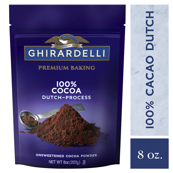 slide 1 of 7, Ghirardelli 100% Unsweetened Premium Baking Cocoa,