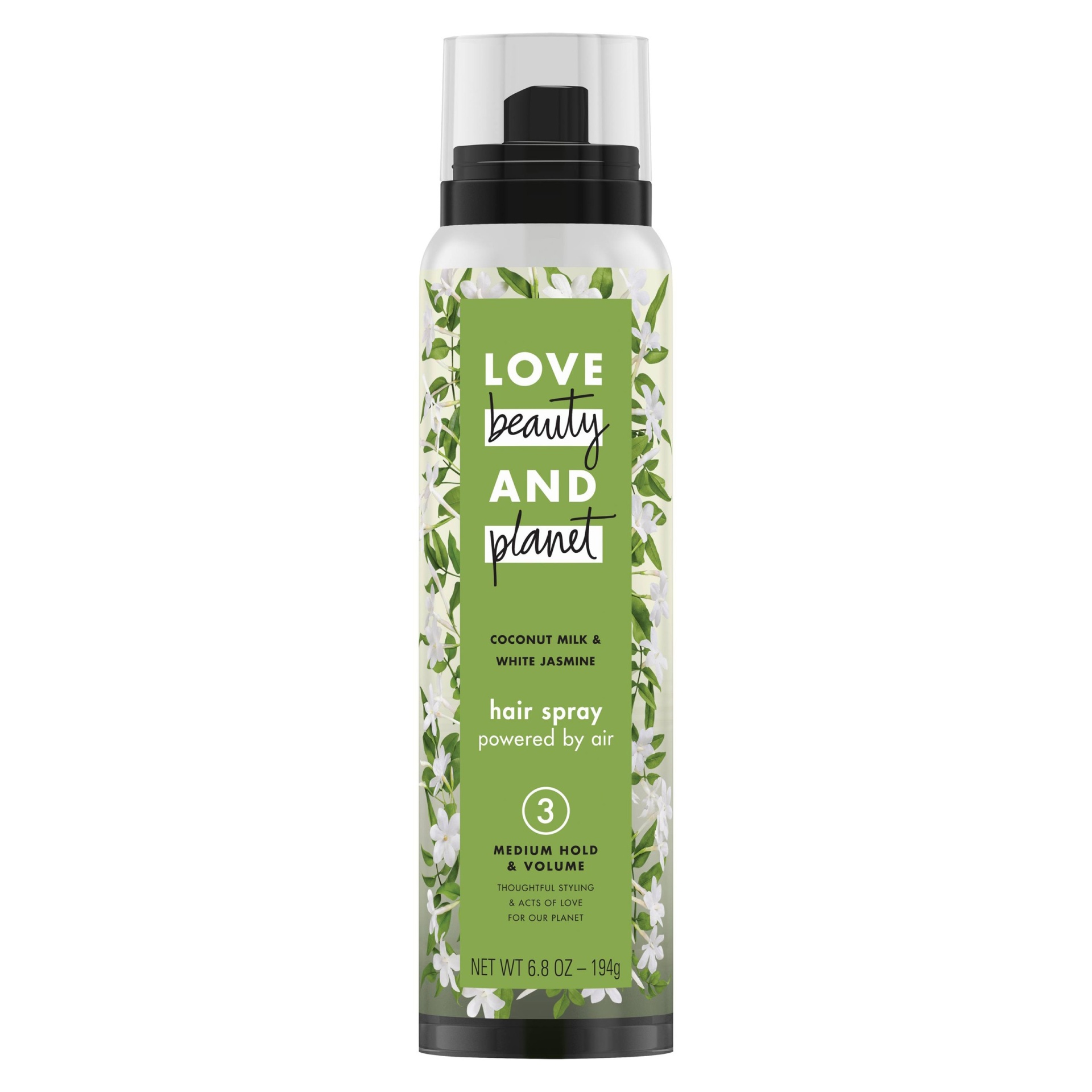 slide 1 of 6, Love Beauty and Planet Coconut Milk & White Jasmine Medium Hold & Volume Hair Spray ,