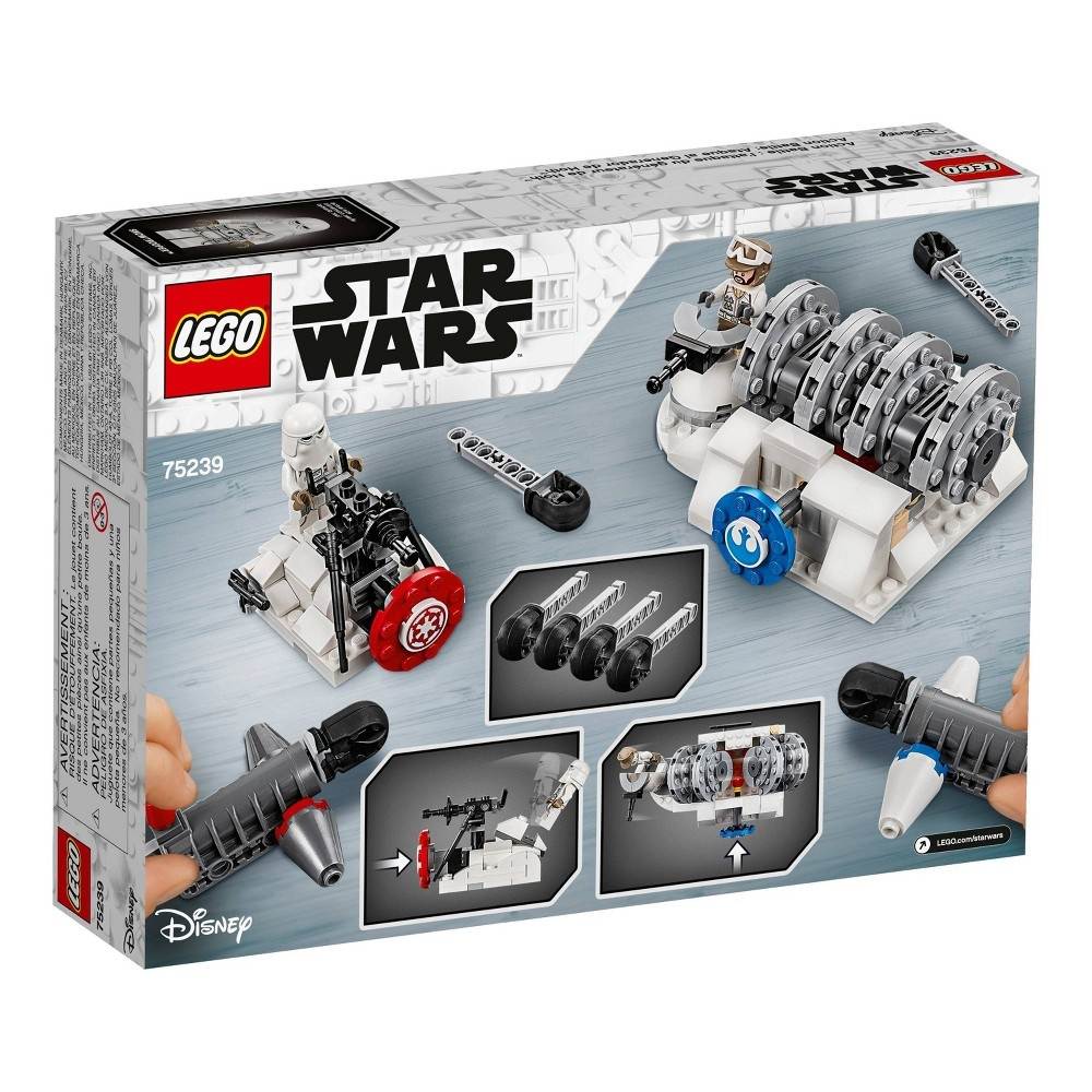 slide 5 of 7, LEGO Star Wars Action Battle Hoth Generator Attack 75239,