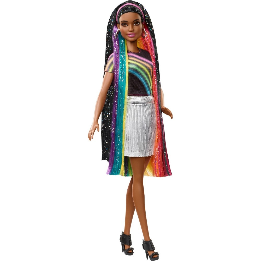 slide 14 of 16, Barbie Rainbow Sparkle Hair Nikki Doll,