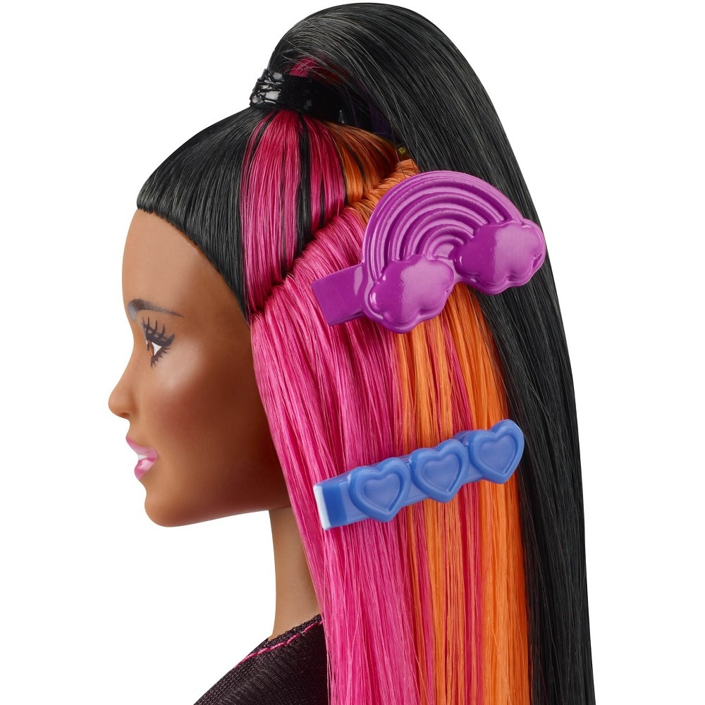 slide 5 of 16, Barbie Rainbow Sparkle Hair Nikki Doll,
