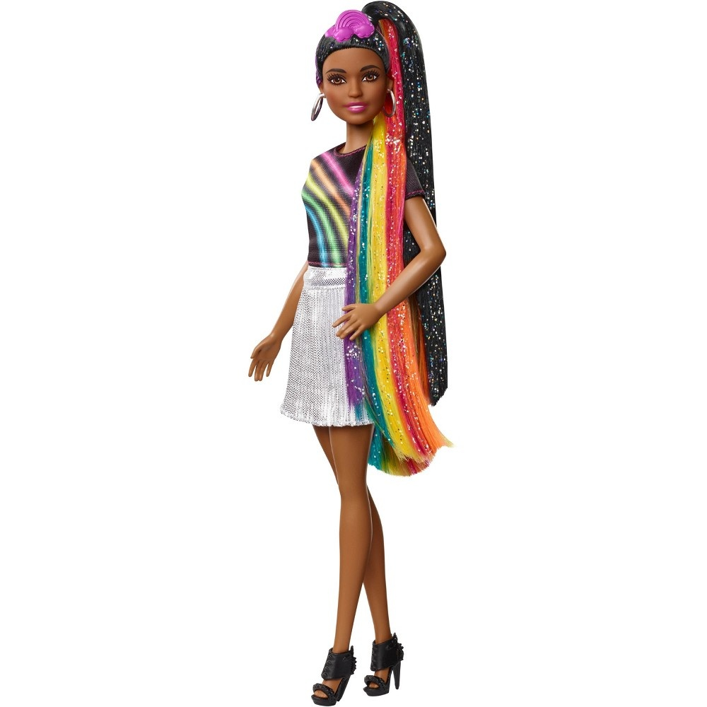 slide 7 of 16, Barbie Rainbow Sparkle Hair Nikki Doll,