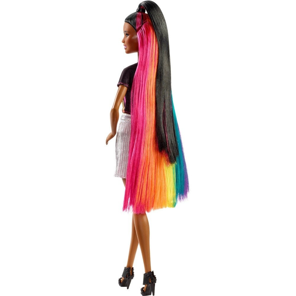 slide 8 of 16, Barbie Rainbow Sparkle Hair Nikki Doll,