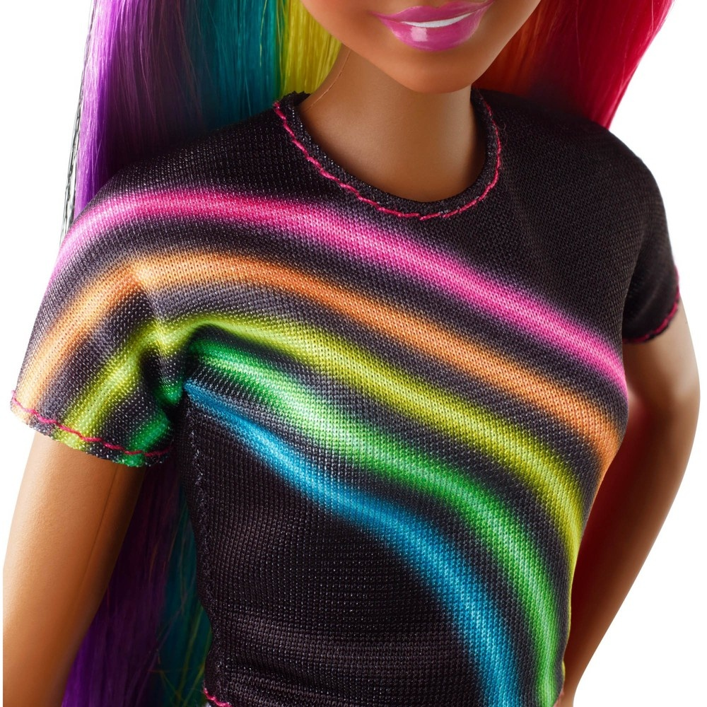 slide 10 of 16, Barbie Rainbow Sparkle Hair Nikki Doll,