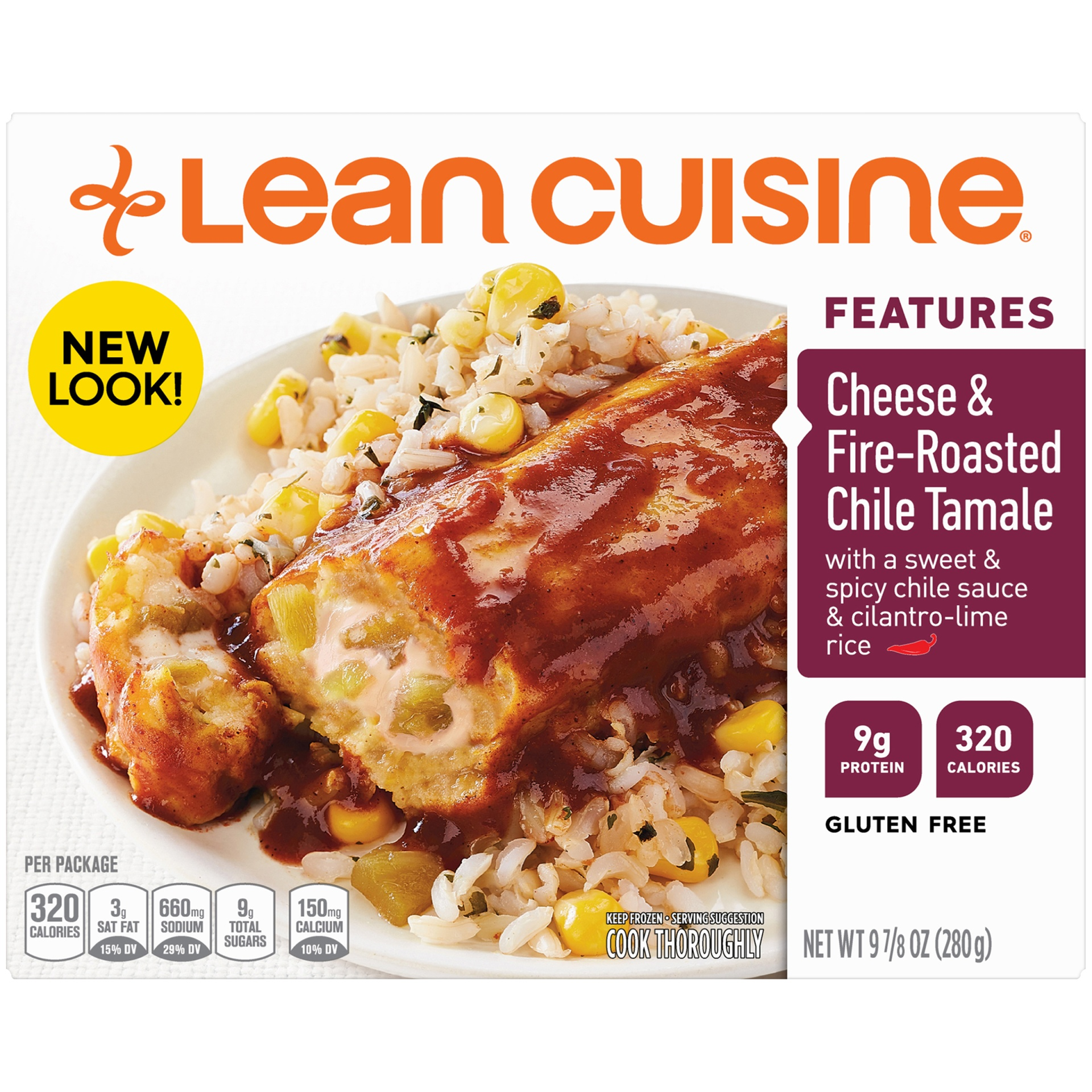 slide 1 of 9, Lean Cuisine Marketplace Cheese & Fire Roasted Chile Tamale,