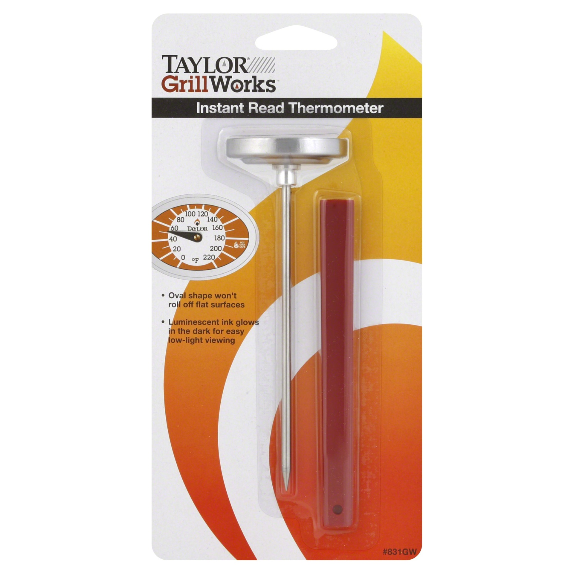 slide 1 of 3, Taylor Precision Products Instant Read thermometer,